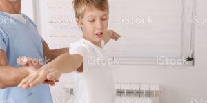 boy getting doctor exam