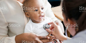 Child having check up