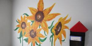 sun flowers wall mural