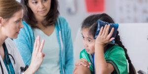 pediatric doctor head injury exam